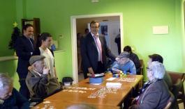 Juan José García Ferrer en su visita a Daimiel