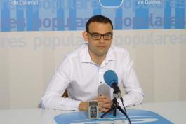 Rueda de prensa del secretario del PP Daimiel